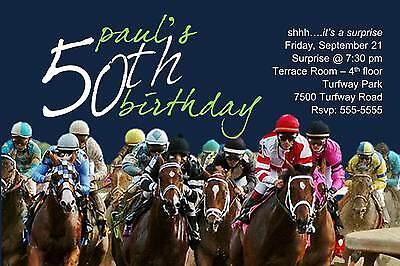 Horse Racing Birthday Retirement Milestone Party Invitation (Horse Racing Birthday Invitations)
