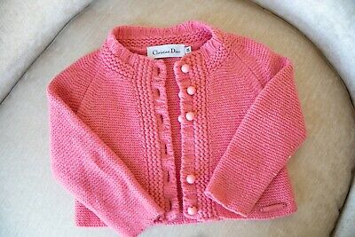 Kids Girls Christian Dior Baby Dior Cardigan Jacket Wool 2T 100% Authentic