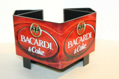 Bacardi & Coke Plastic Bar Caddy Napkin & Straw Holder