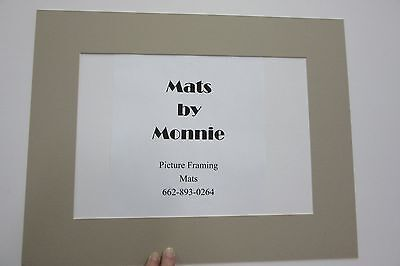 Picture Frame Mat Beige with gold liner  CUSTOM ORDER 11x14 for 4x6