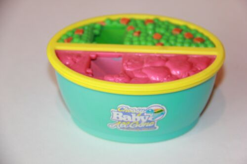 1996 Hasbro Choosy Baby Alive All Gone Food Bowl Strawberry Peas Carrots