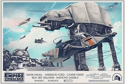 """STAR WARS Empire Strikes back battle at hoth poster 30x40"""" quad sized."""