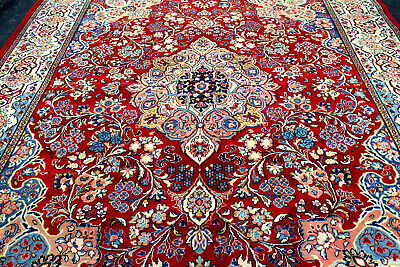 10X12 1940's MUSEUM MASTERPIECE MASTER KNOTTED ANTIQUE SAROUKK MAHALL WOOL RUG