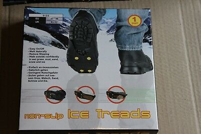 Job Lot 24 x Non Slip Snow Ice Grips Cleats Treads For Shoes  Ice Traction