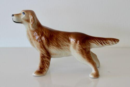 VINTAGE Miniature Ceramic GOLDEN RETRIEVER Figurine Dog STANDING Pointing / NICE