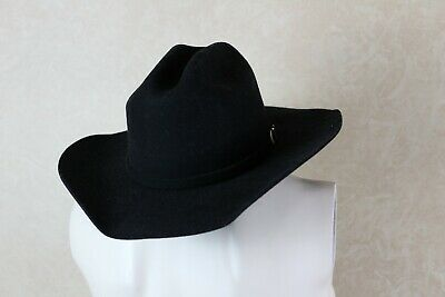 Jr Childrens Cowboy Hat ( Montecarlo Bullhide KINGMAN JR. Childs Wool Western Cowboy Hat Black _____ Clos )