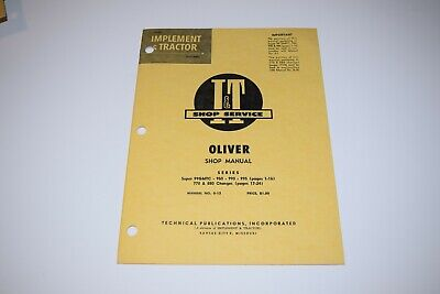 I T Manual Oliver 950 990 995 Tractor Manual