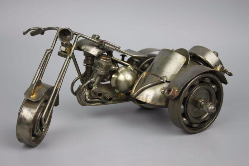 Scrap Metal Sculpture Model Recycled Handmade Art Motorcycle 1