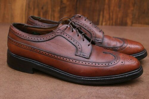 Vintage Mens Florsheim Imperial Wingtips Shoes Antique Brown 11 D USA
