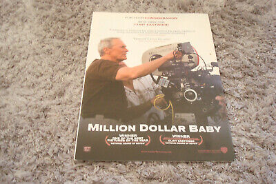 MILLION DOLLAR BABY 2004 Oscar ad Clint Eastwood behind camera for Best