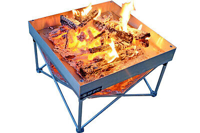Fireside Industries Pop-Up Fire Pit and Heat Shield Combo NEW