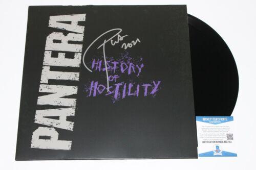 PANTERA PHIL ANSELMO SIGNED HISTORY OF HOSTILITY ALBUM VINYL RECORD BECKETT COA