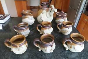 Unique pottery teaset