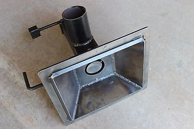 fabricated blacksmithing firepot 10x12-inch, for blacksmith forge