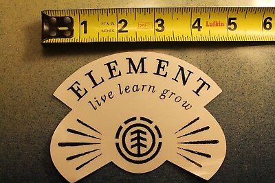 ELEMENT Skateboards Earth Fire Water Wind Live Learn Grow Skateboarding STICKER ()