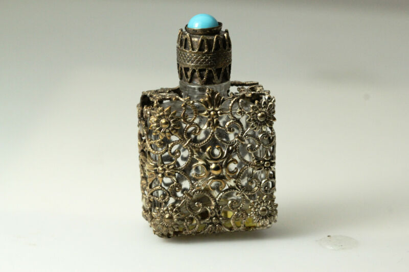 Costume Filigree Wrapped Perfume Bottle Fair Condition 21.4 Grams (ANT2813)
