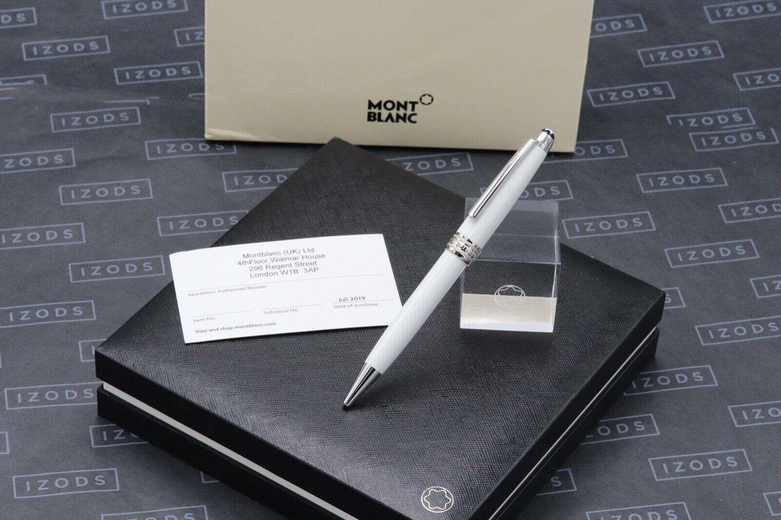 Montblanc Meisterstuck Classique White Solitaire Ballpoint Pen - UNUSED