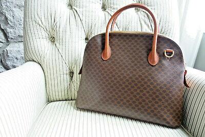 Céline Vintage - Macadam Satchel Bag - Brown - Leather Handbag