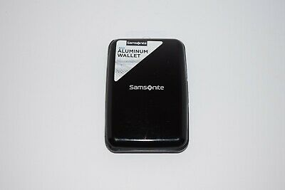 Samsonite RFID Aluminum Wallet Case Black
