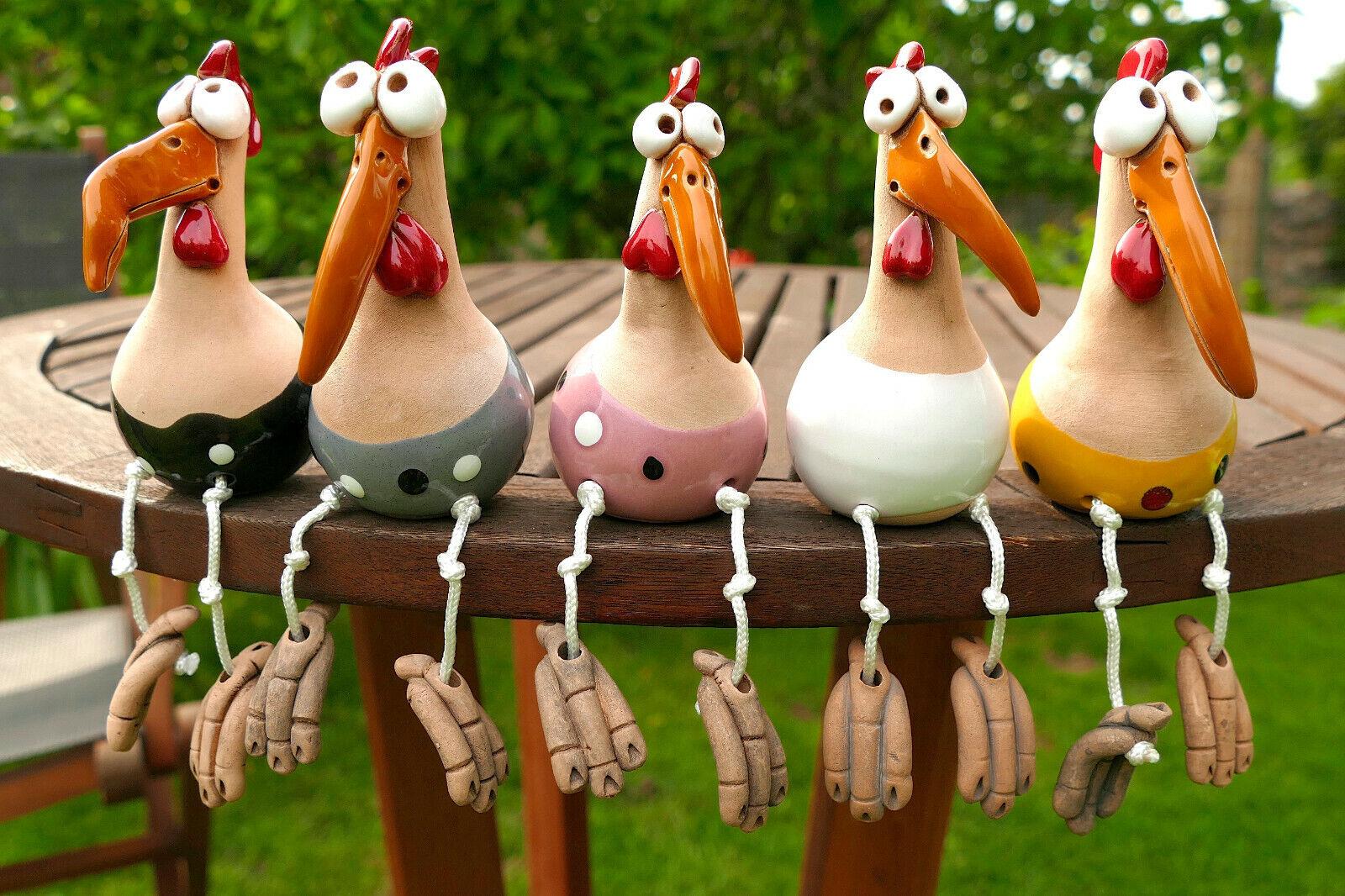 keramik,blumentopf,garten,terrasse,wetterfest,vogel,huhn,kantenhocker,hahn,deko