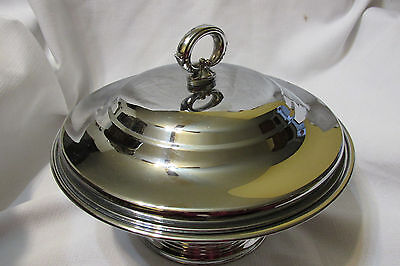 Vintage Continetal Silverplate Covered Serving Vegetable Casserole Dish Cover