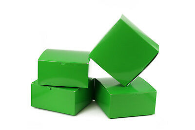 10pk Paper Green Gift Boxes with Lids Christmas Cookies Gift Boxes 8x8x4 - Christmas Boxes With Lids