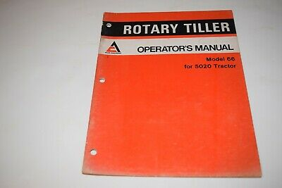 Allis-chalmers Model 66 Rotary Tiller For 5020 Tractor Operators Manual