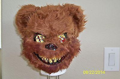 TED DEADY BEAR BLOODY TEETH CREEPY SCARY HORROR VACUFORM MASK COSTUME - Scary Bear Costume