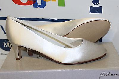 Gold Satin Schuhe (GOLDMARIE Charlene BRAUTSCHUHE HOCHZEITSSCHUHE ABENDSCHUHE SATIN Gr 40 Neu)