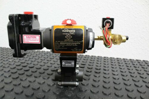 Flowserve Worcester WCB Pneumatic Full Port Ball Valve Limit Switch & Valve