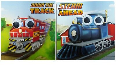 Google Eye Down The Track And Steam Ahead  Set Of 2 Board Books Pre K New