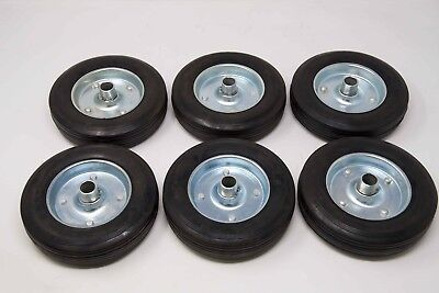Rolling Gate Wheels Rubber 8inch Replacement Kit-of-6
