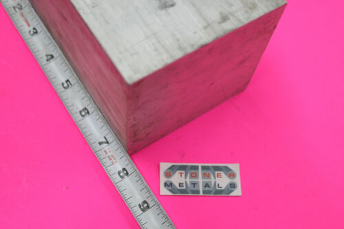 "4"" X 4"" ALUMINUM 6061 SQUARE SOLID BAR 7-1/2"" long T6511 Flat New Mill Stock"