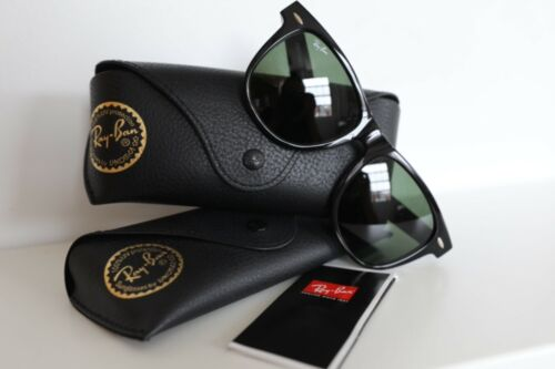 Ray Ban Wayfarer Black 54mm Large Size RB 2140 901 G15 Lenses