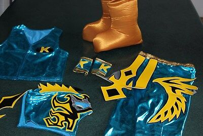 KIDS SUIT 6-10 year LYCRA KALISTO TURQUOISE FANCY DRESS COSTUME OUTFIT niños