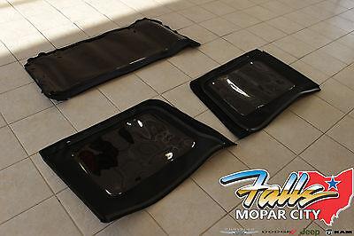 - 2013-2018 Jeep Wrangler JK 4 Door Premium Fabric Soft Top Tinted Window Kit OEM