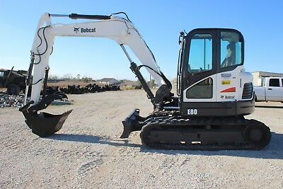 2011 Bobcat E80 Excavator - Includes 3 Buckets Hyd. Thumb Coupler Ac Nice