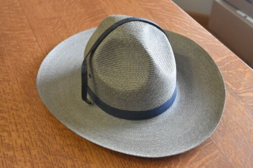 obsolete vintage Kansas Highway Patrol trooper hat Hopkins Milan size 6 7/8 OLD