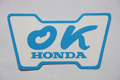 HONDA OK sticker Decal Third party product