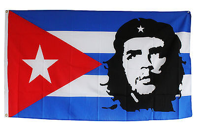 Fahne Flagge Kuba mit Che Guevara 0,90x1,50m