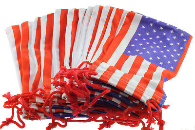 American US Flag Sunglass Pouches Soft Case Storage Bag Glasses Microfiber (Soft Sunglass Cases)