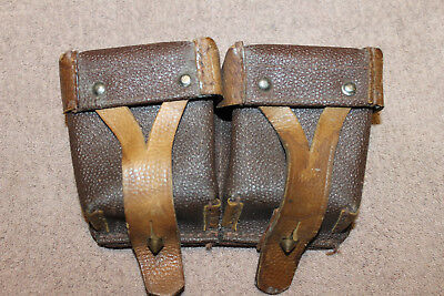 Original Soviet (Russian) Army Double Pocket Rifle Ammo Pouch, 1955 dated
