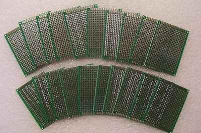 20 Pcs 2x 2 34 Diy Prototype Pc Boards 5 X 7 Cm Double Sided With Feedthrough