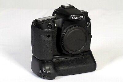 Canon EOS 70D 20.2MP Digital SLR Camera - w/ battery grip (near mint)
