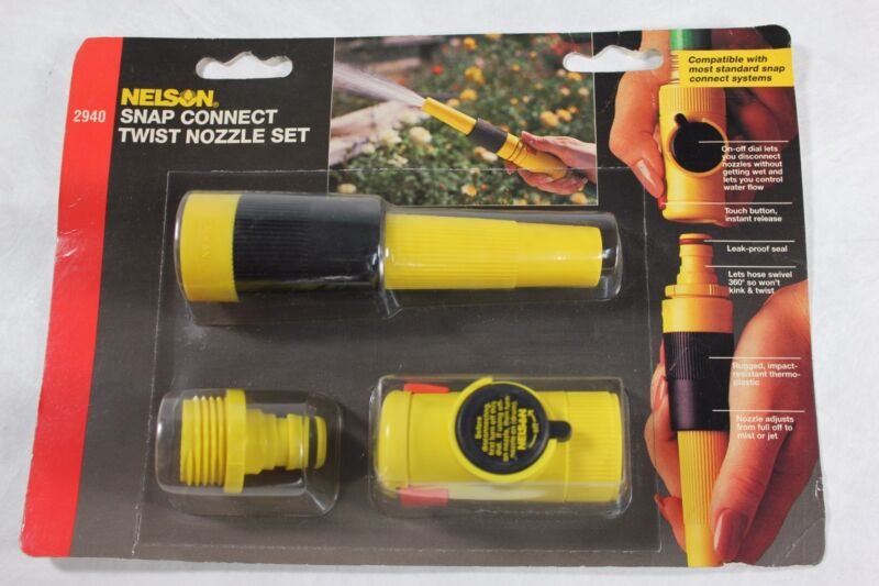 Nelson 2940 Snap Connect Twist Spray Nozzle Set w/ Flow Control - Lawn Watering!