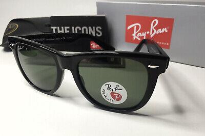 Ray-Ban Wayfarer RB 2140 Polarized- Classic Green Lens Black Frame (Rb2140 Lenses)