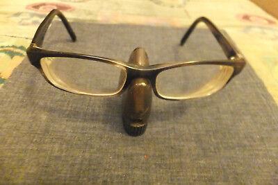 Vtg Yves Saint Laurent Men Rect. Black/Clear 140/52/17 Tort Eyeglass Frame Italy