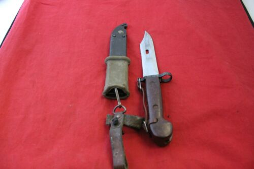 VINTAGE BLADE BAYONET  WITH SHEATH AND COMBINATION WIRE CUTTER