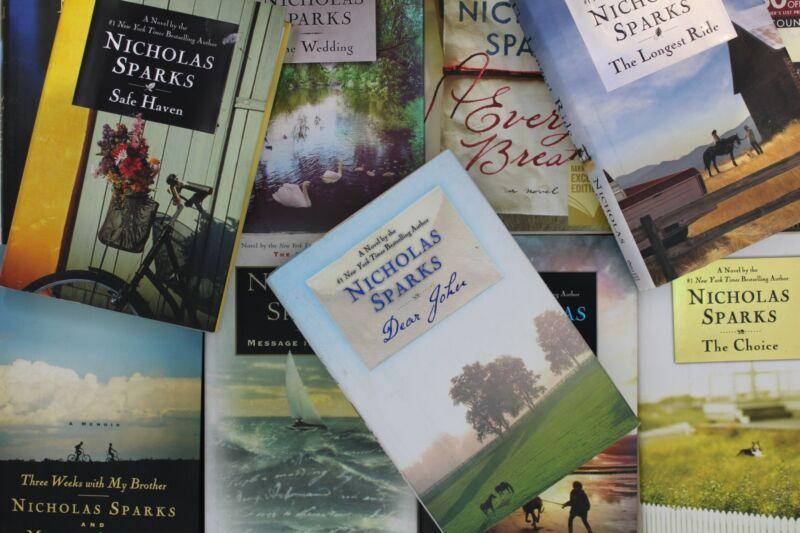 Lot of 5 Nicholas Sparks Romance Hardcover Books MIX