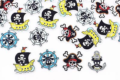 Pirate Skull Mix Wood Sewing Button Wooden Halloween Decoration DIY 32mm 100pcs